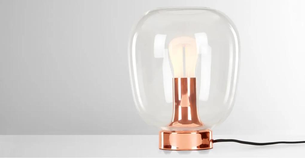 Temple tafellamp met 002 Plumen LED gloeilamp, koper