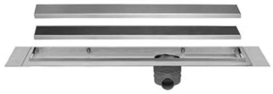 Easydrain Multi TAF afvoergoot enkele plaat 130cm met Zero design rooster RVS edmtaf1300