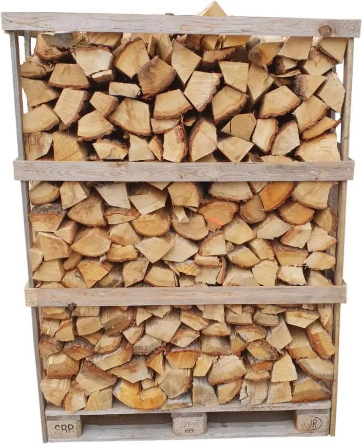 Eikenhout Natuurgedroogd 16 Kuub Gestapeld 700 Houtblokken