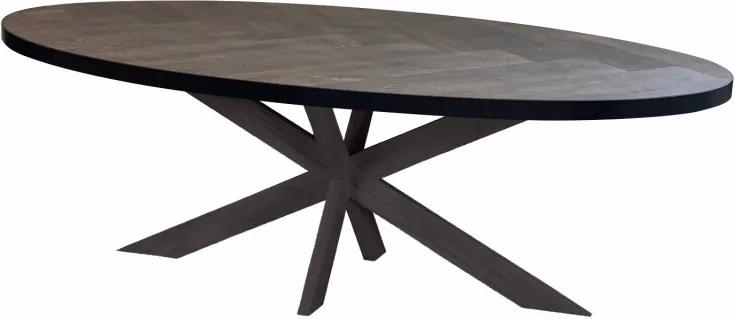 Eiken Eettafel Visgraat Eettafel 10x6 Oak - Ovaal