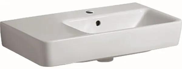 Geberit Renova Compact wastafel compact met kraangat met overloop 65x37x17cm m. afleg links wit 226265000