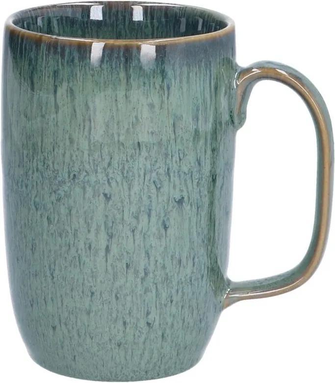 Mok hoog reactieve glazuur, steengoed, groen, 12 cm
