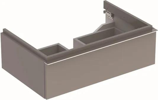 Geberit iCon wastafelonderbouwkast m. 1 lade 74x24x47.7cm m. greep platina-grijs 840277000