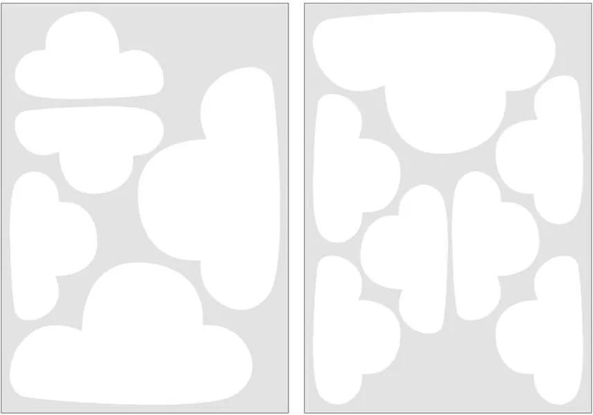 Art For The Home muurstickers Wolken - wit - 17,5x25 cm - Leen Bakker
