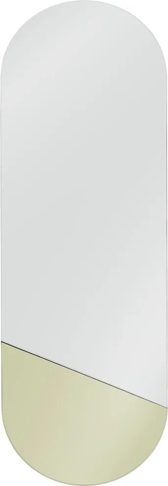 HKliving Oval Ovale Retro Spiegel Met Goud M - 25x76cm