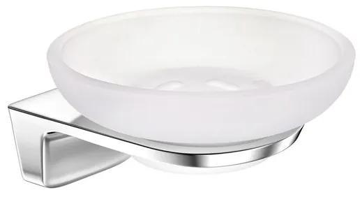 Aliseo Abaco zeepschaal messing/zink/edelstaal 11.8x5.8x12cm glanzend chroom 330008