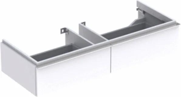 Geberit iCon wastafelonderbouwkast met 2 laden 119x24x47.7cm m. greep glanswit 840120000