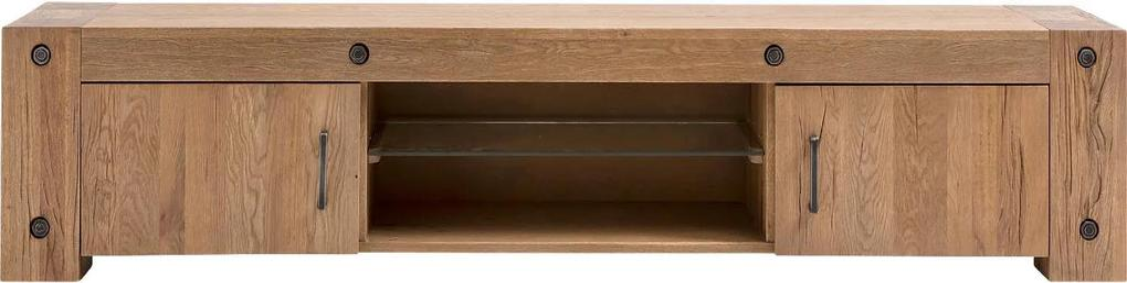 Goossens Tv Meubel Houston, 2 deuren 2 laden 40 cm diep