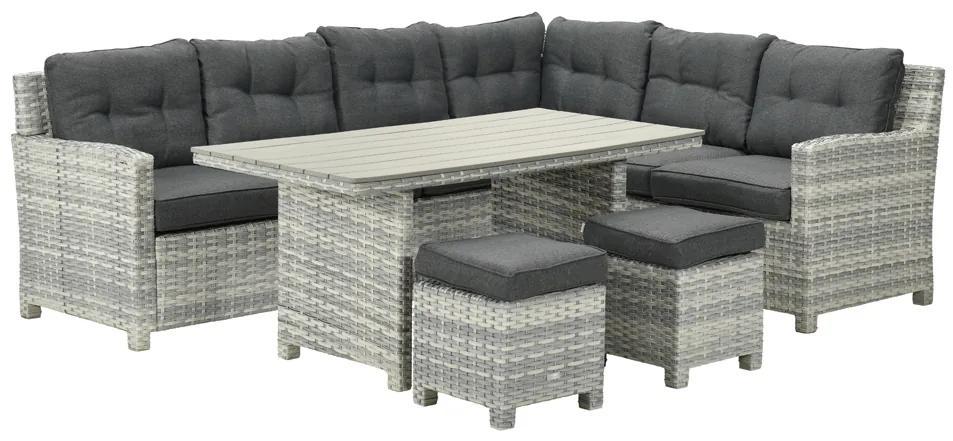 Garden Impressions Alazio lounge diningset - Rechts Cloudy grey