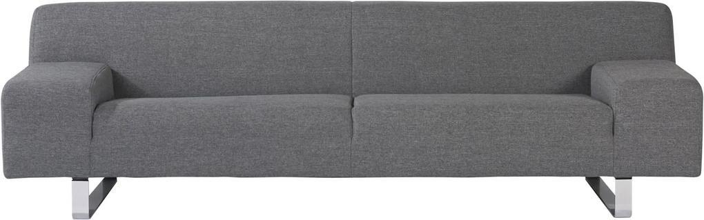 Goossens Bank Milaan grijs, stof, 3-zits, modern design