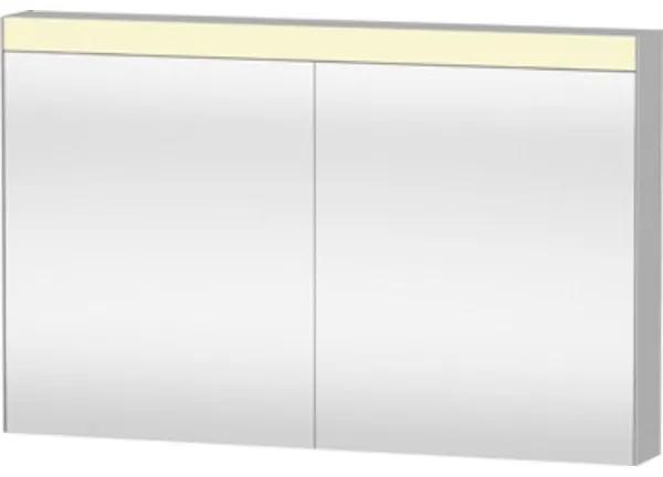 Duravit Good spiegelkast met LED verlichting m. 2 deuren 121x76x14.8cm met wandschakeling LM782300000