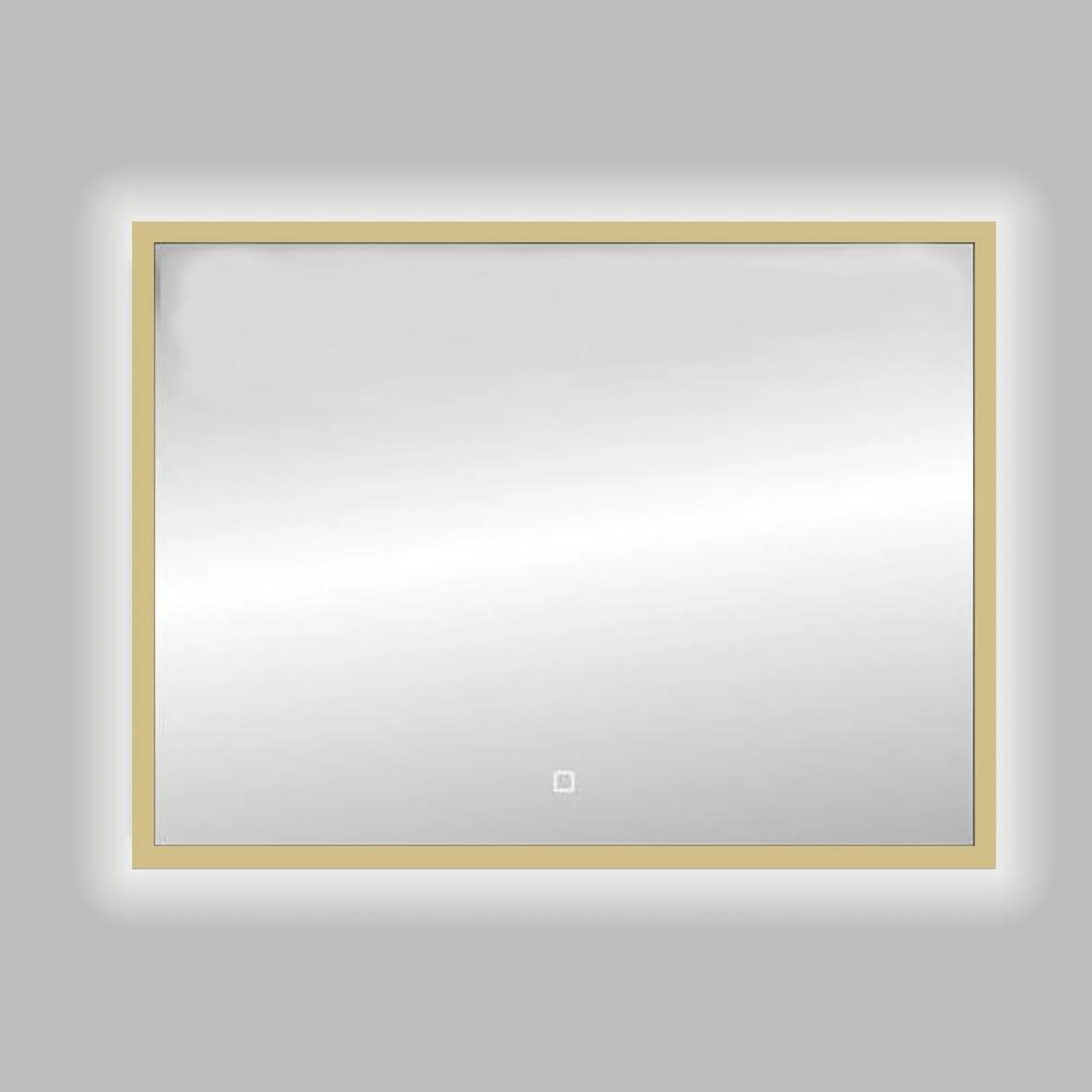 Best Design Nancy Isola spiegel met LED verlichting 120x80cm mat goud