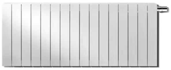 Vasco Zaros H100 designradiator aluminium horizontaal 400x675mm 678W aansluiting 2367 wit structuur 112450675040023670600-0000