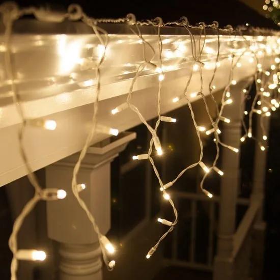 LED IJspegelverlichting, Kerst, 10 Meter, 400 Lampjes, IP44, Doorkoppelbaar, Warm Wit