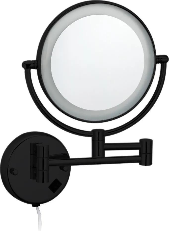 Best Design Nero ronde cosmeticaspiegel met LED mat zwart