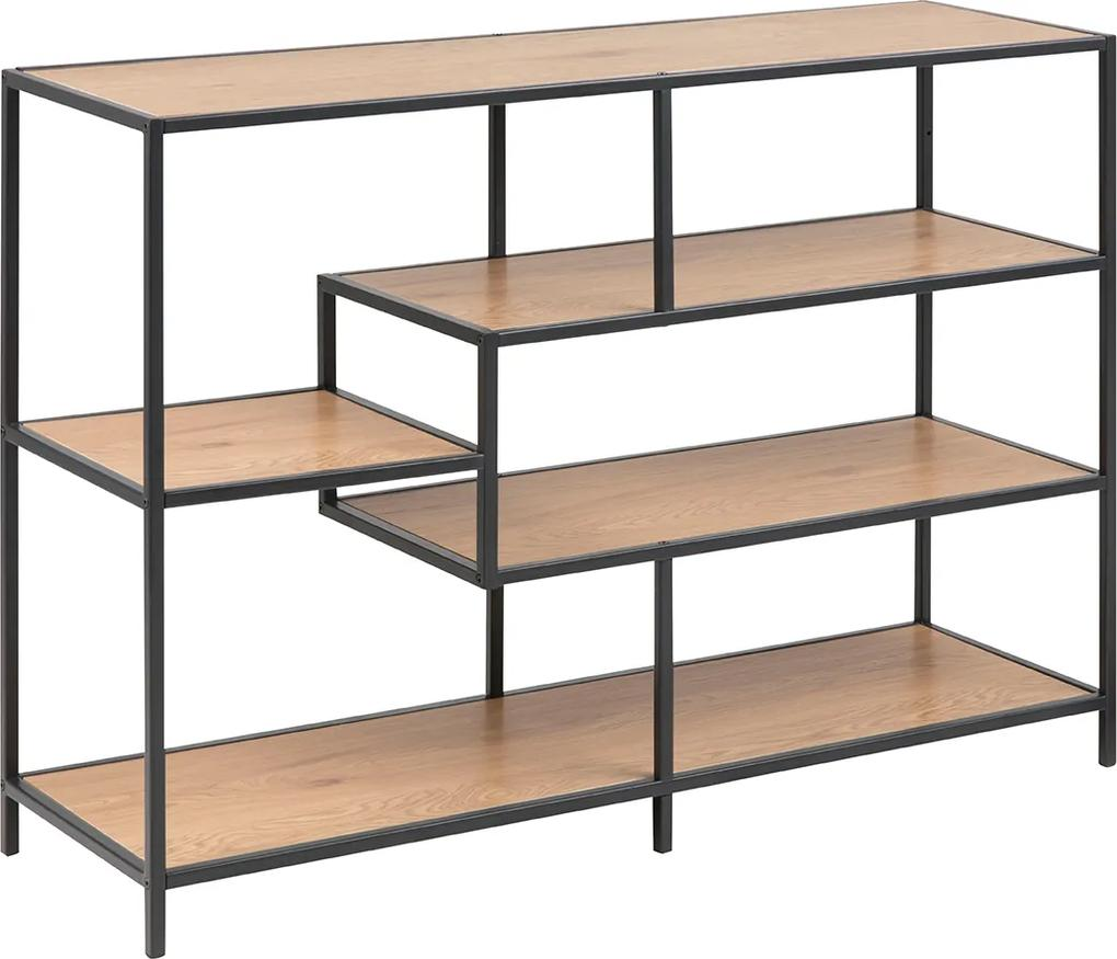 Lisomme Industrieel Dressoir Vic Hout 3 Planken Breed Wandkasten Woood Moos Wandkast Coogee Open Kast Boekenkasten Industrieel