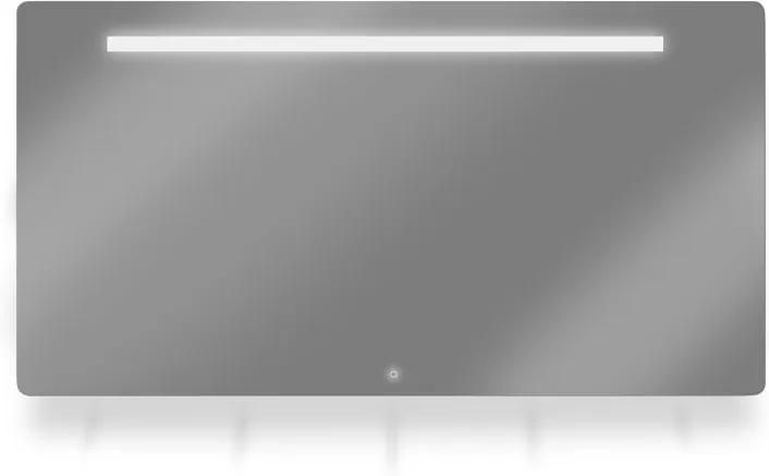 ML1-Line spiegel met horizontale LED-verlichting 100x70 cm