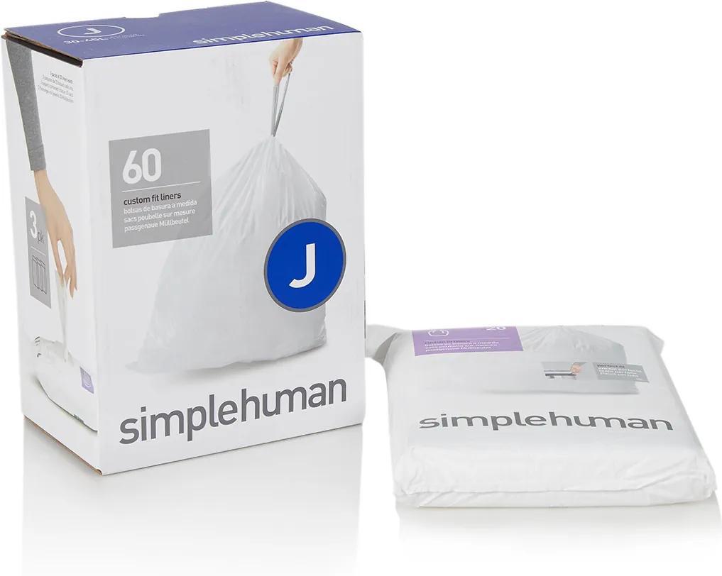 Simplehuman Afvalzakken code J 30-45L 60 stuks