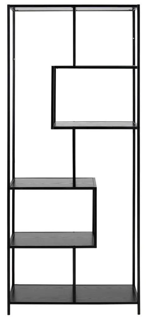 Open Kast Van Staal Met Zwart Essen 77x35x185cm