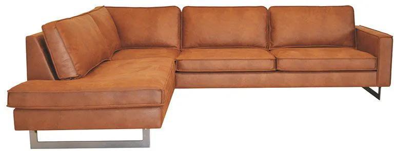 Hoekbank / Loungebank Riverdance   Links   Leer Cognac 03   2,17 x 2,90 mtr