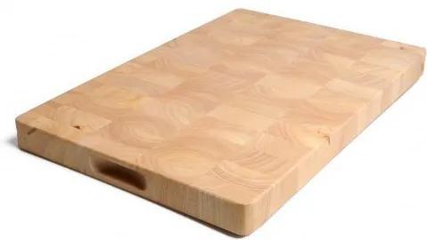 Snijplank, rubberhout , 30 x 45 cm
