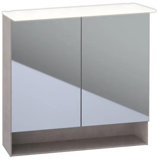 Acanto spiegelkast verlichting 2 deur 90cm eiken mystiek