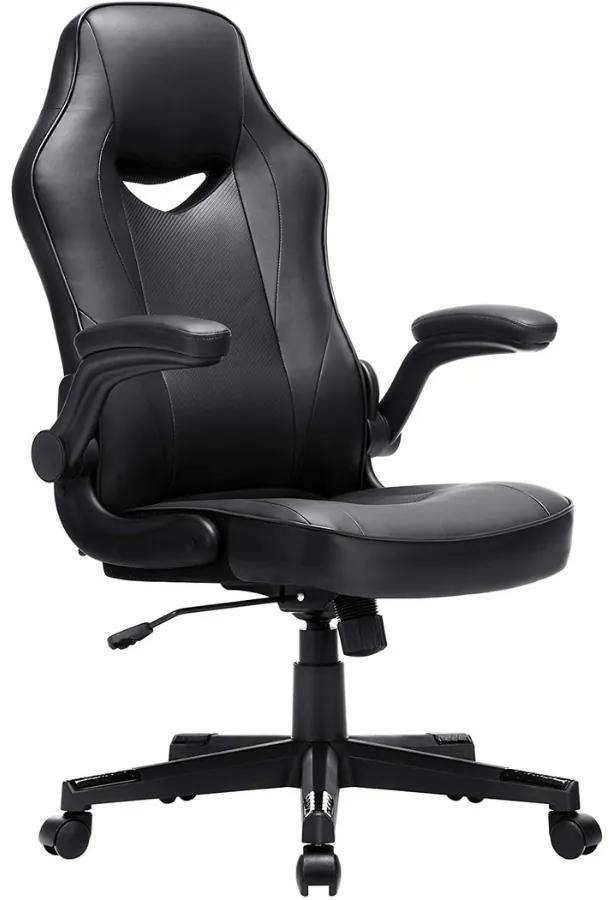 Nancy's Bathgate Bureaustoel - Ergonomische Bureaustoel - Bureaustoel Voor Volwassenen - Zwart - 75 x 64 x (110-120) cm (L x B x H)