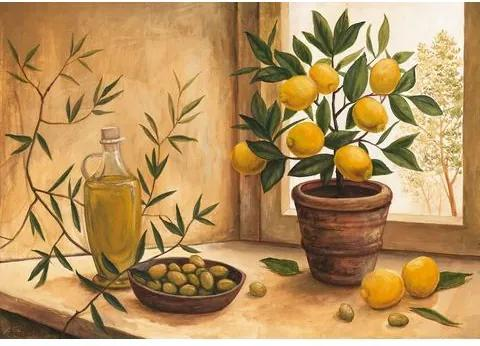 HOME AFFAIRE artprint »A. S.: Olive and lime«, 99x69 cm