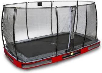 Elegant Premium Inground Trampoline 244 x 427 cm met Veiligheidsnet