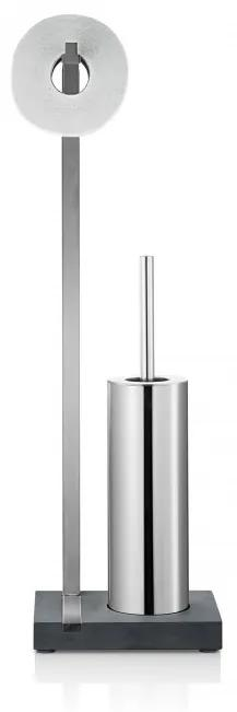 Toiletrolhouder En Borstel Blomus Menoto Design Geborsteld RVS Mat