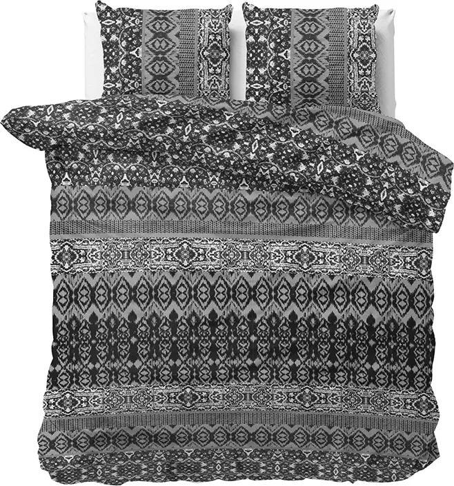Elegance Xet - Antraciet Lits-jumeaux (240 x 220 cm + 2 kussenslopen) Dekbedovertrek