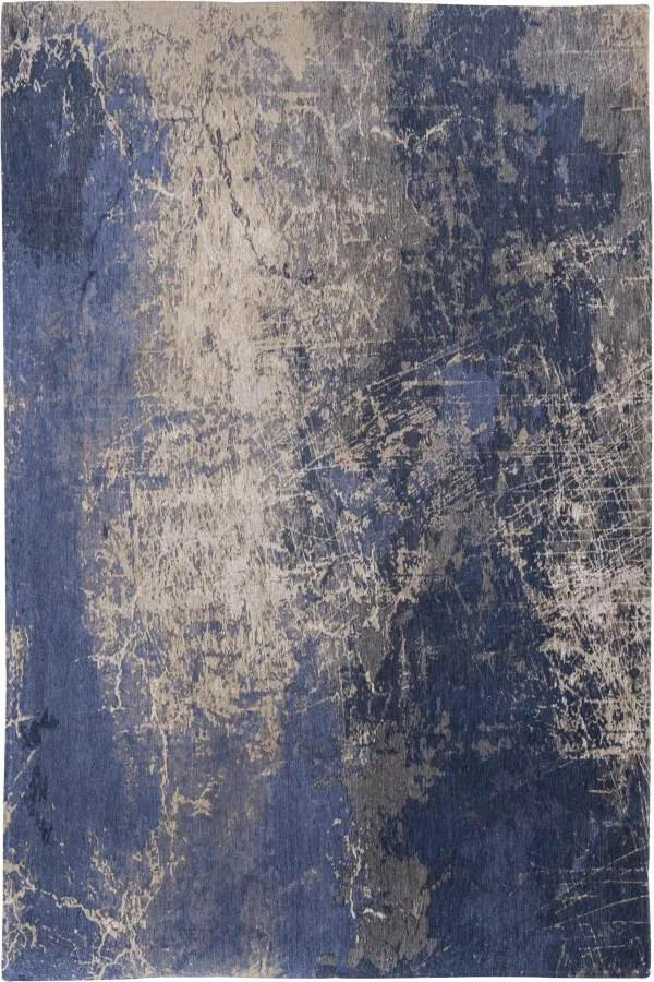 Louis de Poortere - Mad Men Cracks Abyss Blue 8629 - 230 x 330 - Vloerkleed
