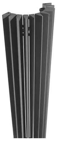 Jaga Iguana Circo Designradiator wandmodel 1800x340mm 1092 watt metaalgrijs CIRW180034001MM