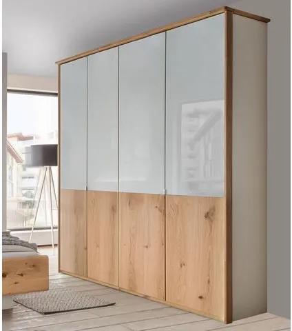 WIEMANN garderobekast, met echt houten fineer en glaselementen