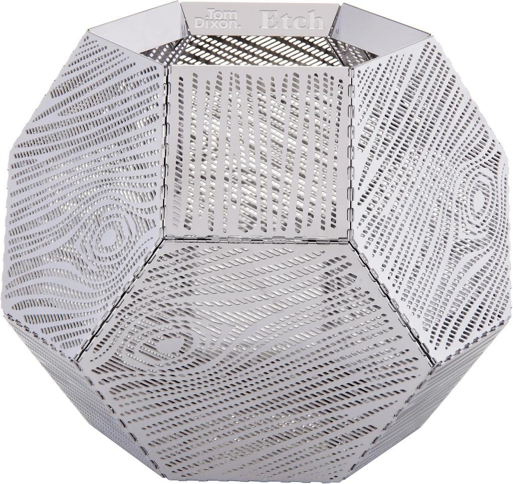 Tom Dixon Etch Wood theelicht stainless steel