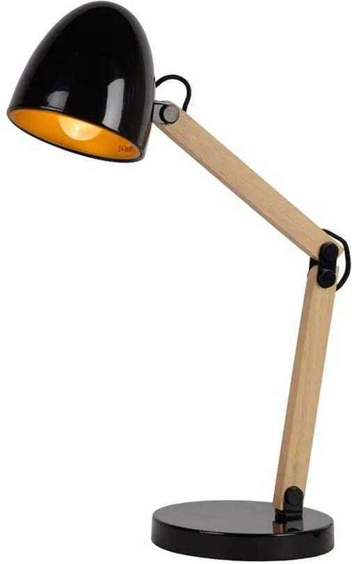 Lucide bureaulamp Benjy - zwart - Leen Bakker