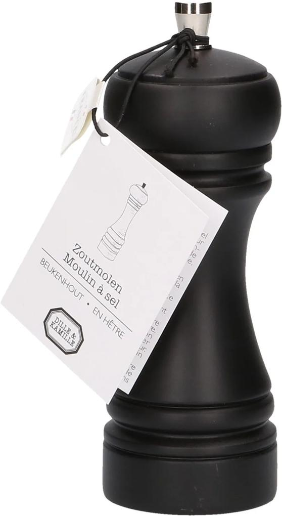 Zoutmolen zwart, 14 cm