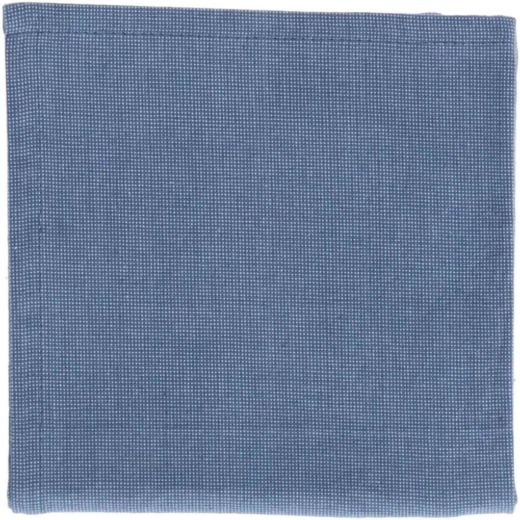 Theedoek, bio-katoen, blauw gemêleerd, 50 x 70 cm