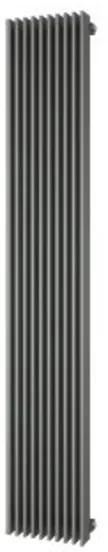 Plieger Antika Retto designradiator verticaal middenaansluiting 1800x295mm 994W parelgrijs (pearl grey) 7253230