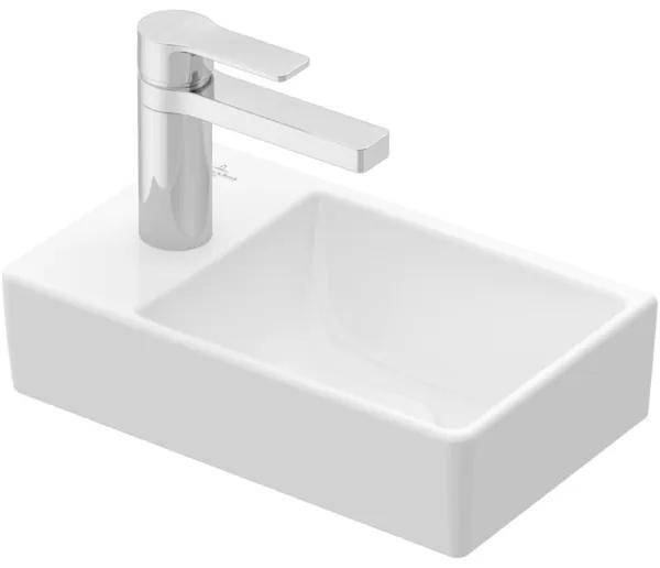 Villeroy & boch Avento fontein 1 kraangat links zonder overloop 36x22cm Ceramic+ stone white 43003rrw