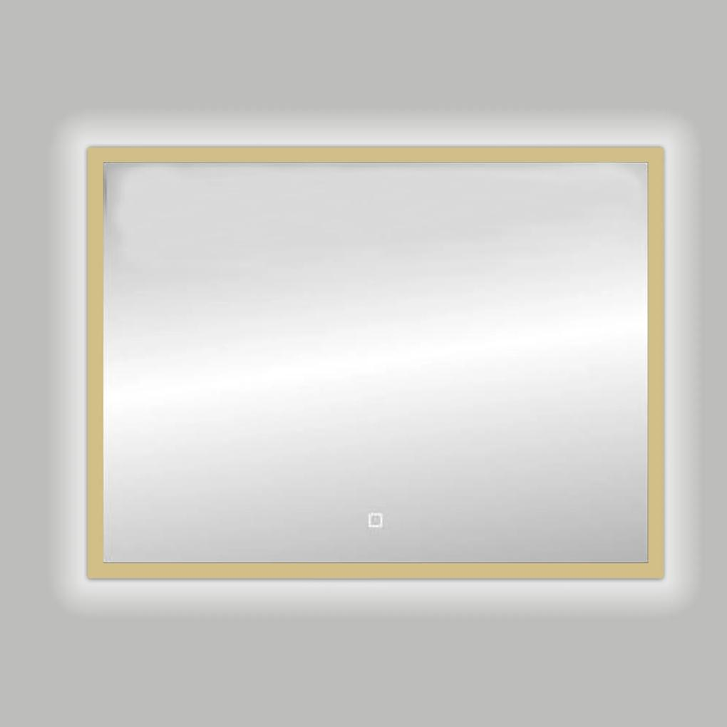 Best Design Nancy Isola spiegel met LED verlichting 100x80cm mat goud