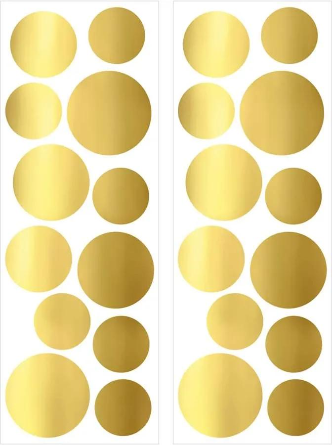Art For The Home muurstickers Stippen - goud - 70x25 cm - Leen Bakker