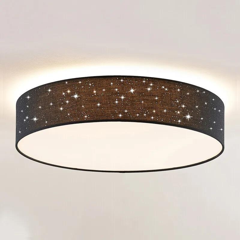 Ellamina LED plafondlamp, 60 cm, zwart - lampen-24