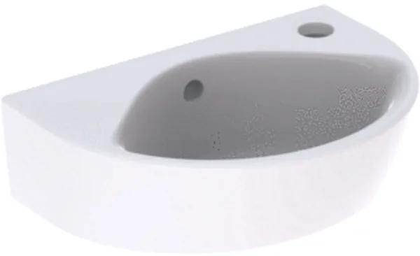 Geberit Renova fontein compact met kraangat rechts met overloop 36x25x14.8cm wit 500.374.01.1