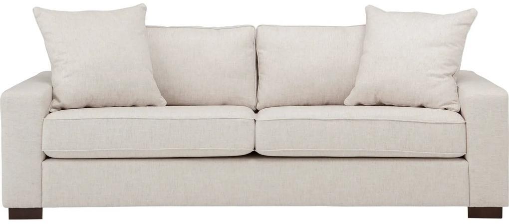 Goossens Bank Thomas wit, stof, 2,5-zits, stijlvol landelijk