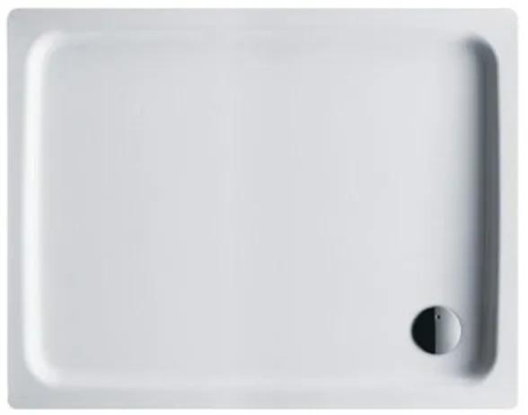Kaldewei Duschplan douchebak plaatstaal 90x110x6.5 rechthoekig met Styropordrager wit 431948040001