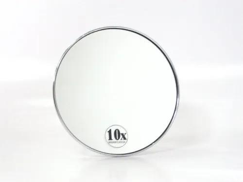 Cosmeticaspiegel Rond Woodynox 10x Vergrotend met Zuignap 15.5cm