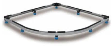 Kaldewei Zirkon frame voor douchebak maximaal 100x100cm 530000160000