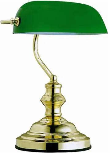 Tafellamp Antique messing groen