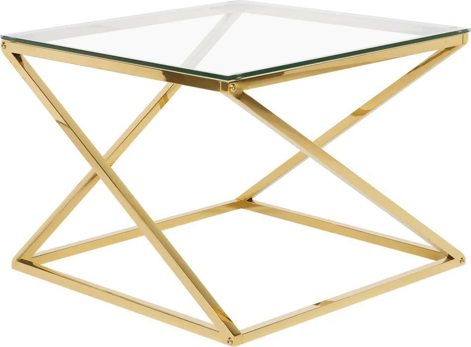 Salontafel glas/goud BEVERLY